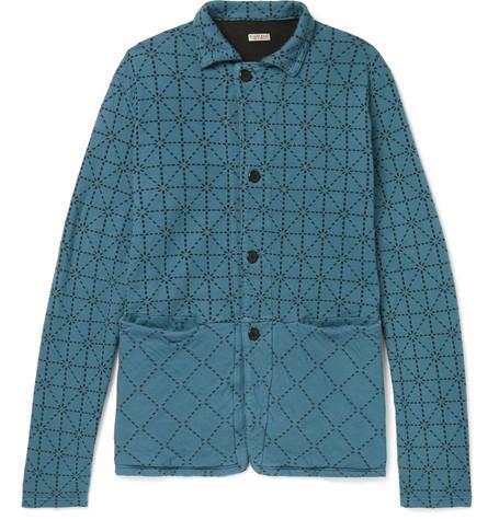 Cotton Padded Blue jersey Kapital Jacket Printed wxBadqw5A