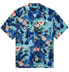 KAPITAL - Camp-Collar Printed Voile Shirt