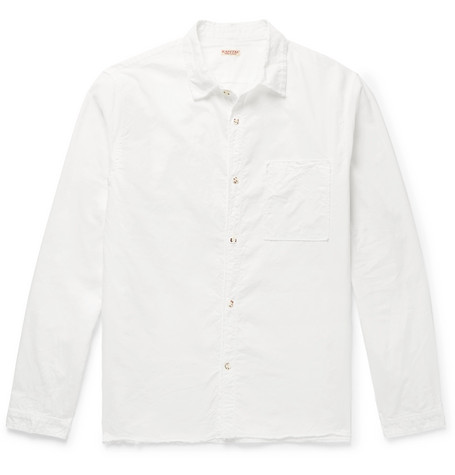Frayed Cotton Canvas Shirt by Kapital
