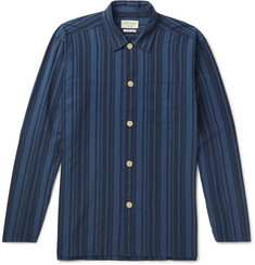 Oliver Spencer Loungewear Farrow Striped Organic Cotton Pyjama Shirt