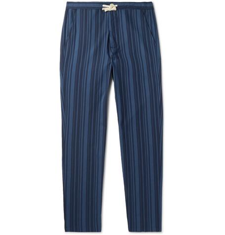 OLIVER SPENCER LOUNGEWEAR Farrow Striped Organic Cotton Pyjama Trousers