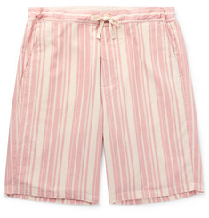 Oliver Spencer Loungewear - Farrow Striped Organic Cotton Pyjama Shorts