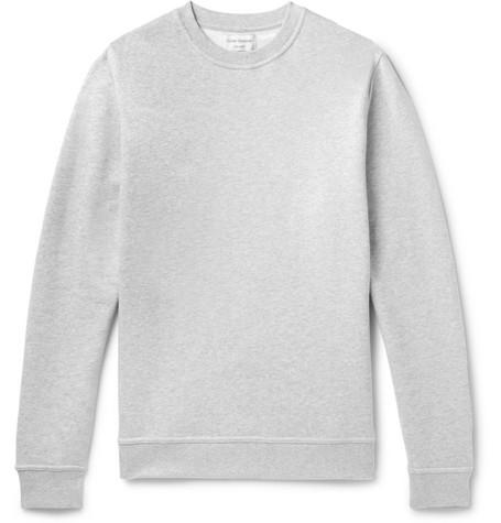 OLIVER SPENCER LOUNGEWEAR Harris Fleeceback Cotton-Jersey Sweatshirt in Gray