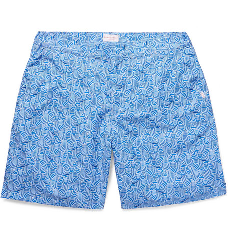 Limited Edition Sale Online Best Place Mid-length Printed Swim Shorts Derek Rose Buy Cheap Clearance Store Discount Wholesale Discount Cost pHoGw