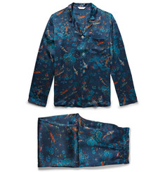 Derek Rose - Brindisi 28 Printed Silk Pyjama Set