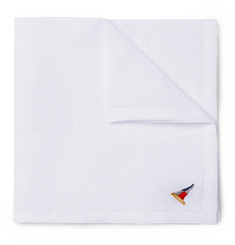 Polo Ralph Lauren Embrodered Linen Pocket Square