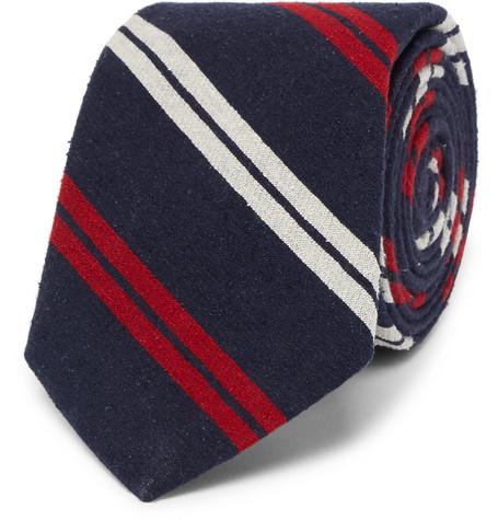 7cm Madison Striped Slub Silk Tie
