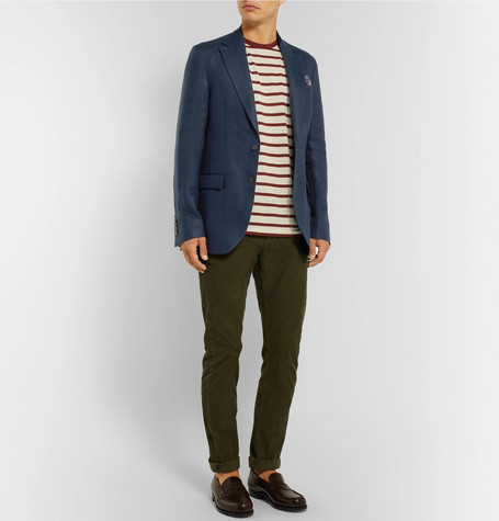 Navy Morgan Slim Fit Unstructured Linen Blazer by Polo Ralph Lauren