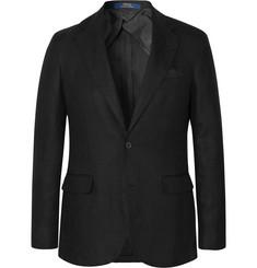 폴로 랄프로렌 Polo Ralph Lauren Black Morgan Slim-Fit Unstructured Linen Blazer,Black
