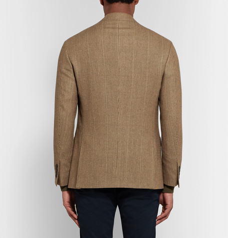 Brown Polo 1 Puppytooth Wool And Silk Blend Blazer by Polo Ralph Lauren