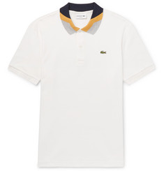 Lacoste Slim-Fit Colour-Block Cotton-Piqué Polo Shirt