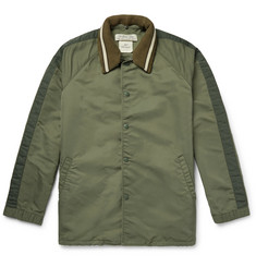 Remi Relief Nylon-Twill Coach Jacket with Detachable Ribbed Collar