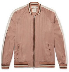 Remi Relief Striped Twill Bomber Jacket