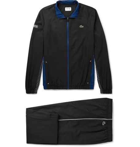 LACOSTE TENNIS PANELLED RIPSTOP TENNIS TRACKSUIT