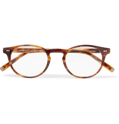 8e86d8d557 Moscot - Frankie Round-Frame Tortoiseshell Acetate Optical Glasses