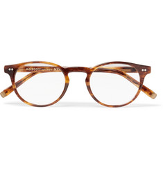 Moscot Frankie Round-Frame Tortoiseshell Acetate Optical Glasses