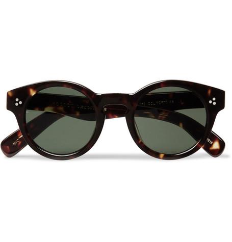 d7797c923 Moscot Grunya Round-Frame Tortoiseshell Acetate Sunglasses - Tortoiseshell  - One Siz