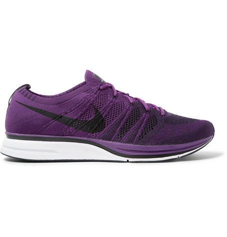 Lab Flyknit Trainer Sneaker, Night Purple/ Black/ White