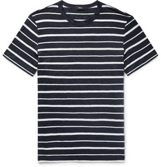 Theory Striped Slub Linen-Jersey T-Shirt