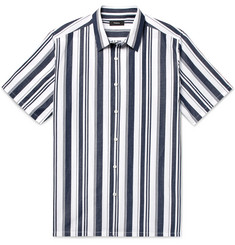 Theory - Irving Striped Cotton and Linen-Blend Shirt