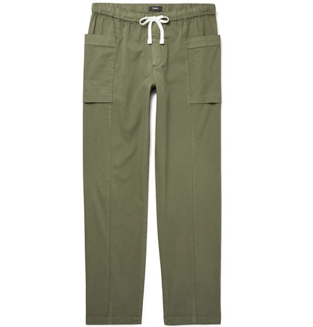 Stretch Cotton-twill Drawstring Trousers Theory Great Deals Sale Online Sftf08aD