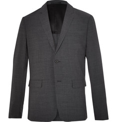 Theory Clinton Charcoal Slim-Fit Stretch Wool-Blend Suit Jacket