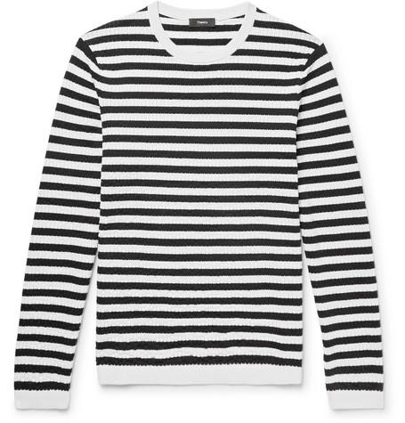 slim de mezcla Suéter de Theoryroldans a corte rayas algodón de x81Y5rqw1