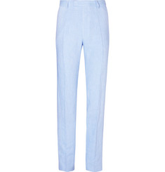 Favourbrook - Sky-Blue Evering Windsor Linen Suit Trousers