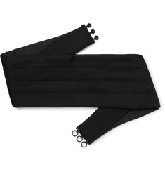 Favourbrook Pleated Silk-Twill Cummerbund
