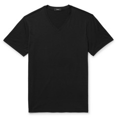 Theory Claey Slim-Fit Silk and Cotton-Blend Jersey T-Shirt