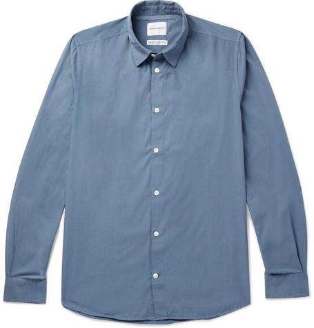 Norse projects Hans Organic Cotton-poplin Shirt - Blue w0FBZdrM3