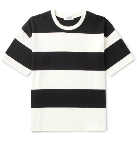 ALOYE + G.F.G.S. Triped Cotton T-Shirt - Black