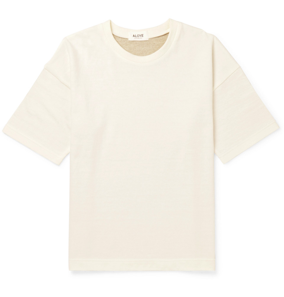 + G.f.g.s. Panelled Cotton And Yak-blend T-shirt - Gray