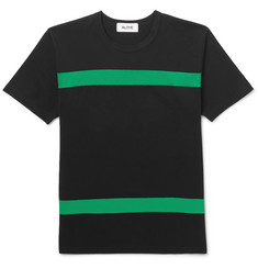 Aloye Slim-Fit Striped Cotton-Jersey T-Shirt