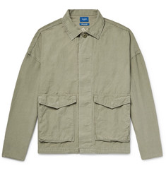 Beams - Embroidered Cotton and Linen-Blend Shirt Jacket