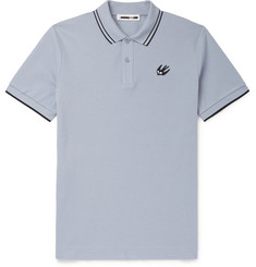 McQ Alexander McQueen Slim-Fit Contrast-Tipped Cotton-Piqué Polo Shirt