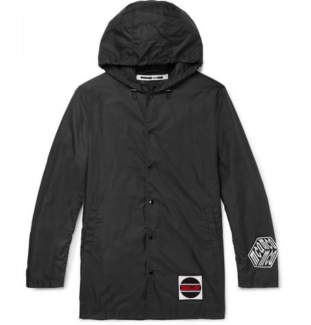Appliquéd Shell Hooded Jacket by Mc Q Alexander Mc Queen