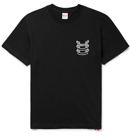BLACKMEANS Slim-Fit Printed Cotton-Jersey T-Shirt