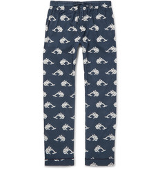 Desmond & Dempsey - Printed Cotton Pyjama Trousers