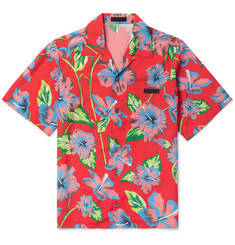 Prada - Camp-Collar Printed Voile Shirt