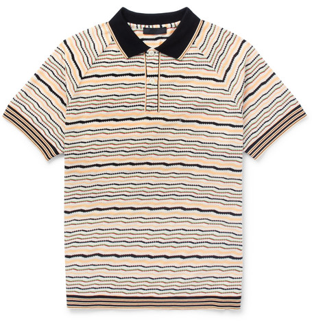 Striped Cotton Polo Shirt by Prada