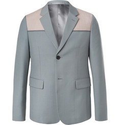 Prada - Sage-Green Panelled Wool and Mohair-Blend Blazer