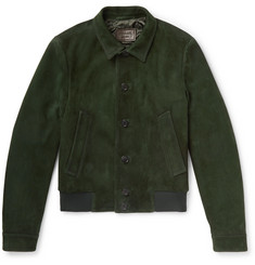 Prada - Slim-Fit Suede Blouson Jacket