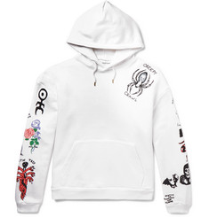 Flagstuff Tattoo Printed Loopback Cotton-Jersey Hoodie