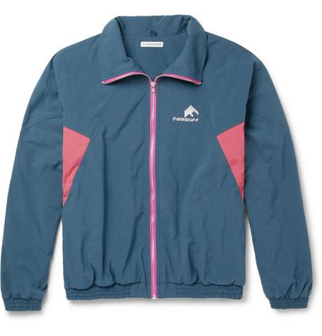 FLAGSTUFF Colour-Block Shell Track Jacket