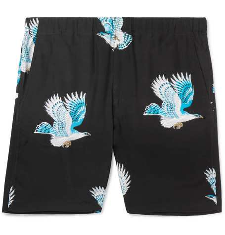 Printed Woven Shorts by Flagstuff