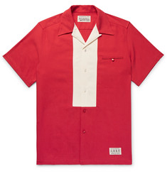 Wacko Maria Camp-Collar Two-Tone Tencel and Cotton-Blend Twill Shirt