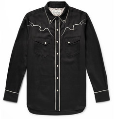 Wacko Maria + Wolf's Head Piped Embroidered Twill Western Shirt