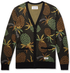 Wacko Maria Pineapple Cotton-Jacquard Cardigan