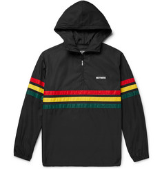 Wacko Maria Appliquéd Striped Shell Hooded Jacket